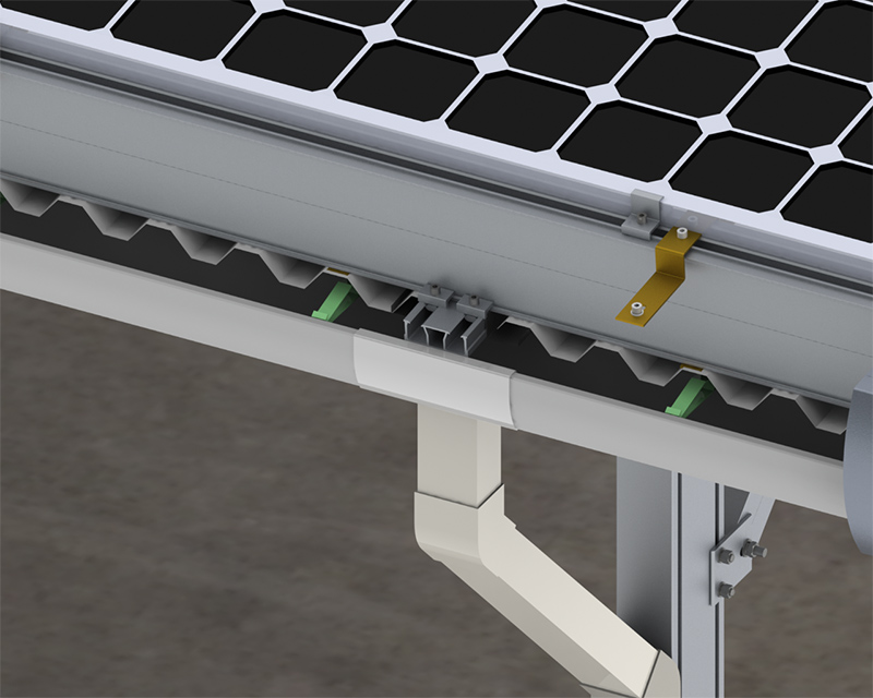 solar car parking mount water proof carport