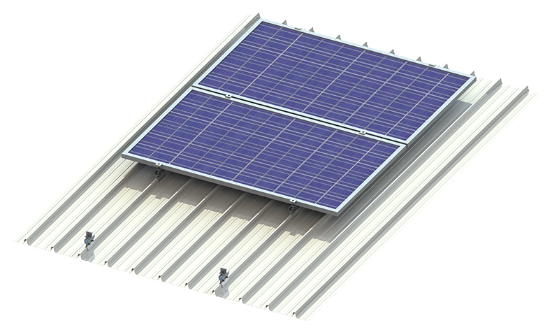 New solar panel metal roof mount rooftop