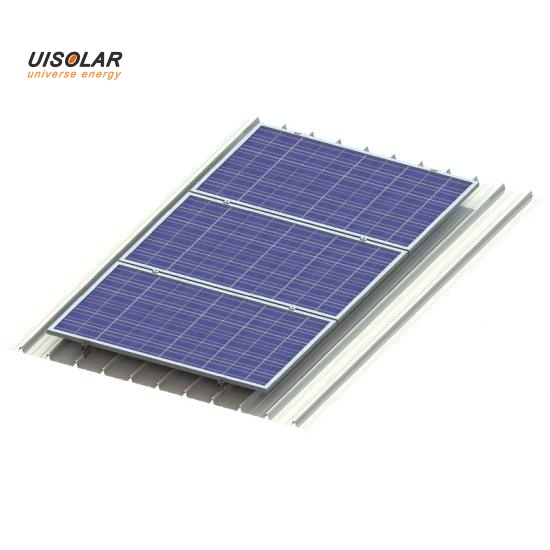 Solar panel flat metal roof mount with clamps